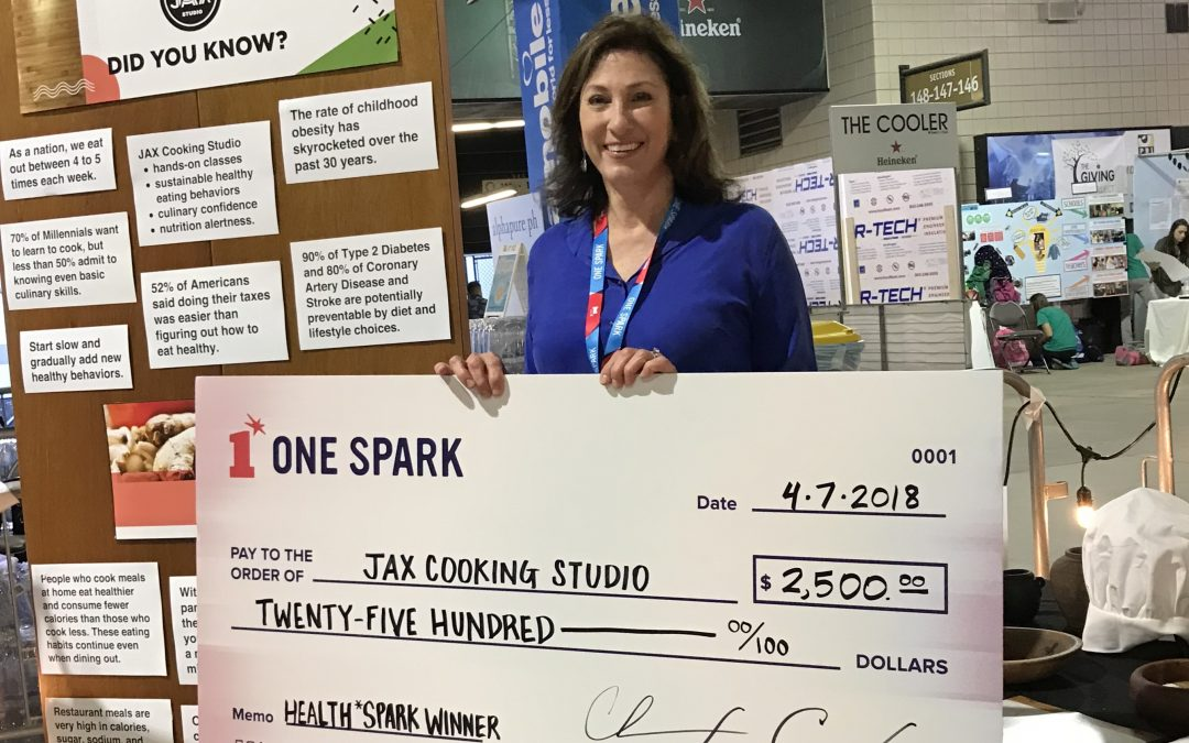 JAX Cooking Studio Wins First Place in Health Division at One Spark 2018!